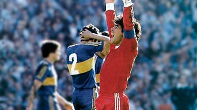 El día que Maradona le hizo cuatro goles a Boca - Télam ...