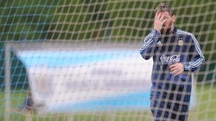 Argentina se entrenó con tres cambios para enfrentar a Colombia