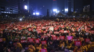 Con marchas a favor y en contra, Seúl espera a Trump