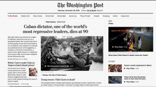 Cómo reflejaron los diarios del mundo la muerte de Fidel Castro