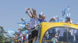 Los campeones de la Copa Davis viajaron en caravana hacia la Casa Rosada