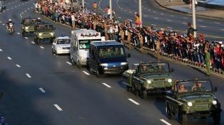 Los restos de Fidel llegaron a Camagüey y partirán hacia Bayamo