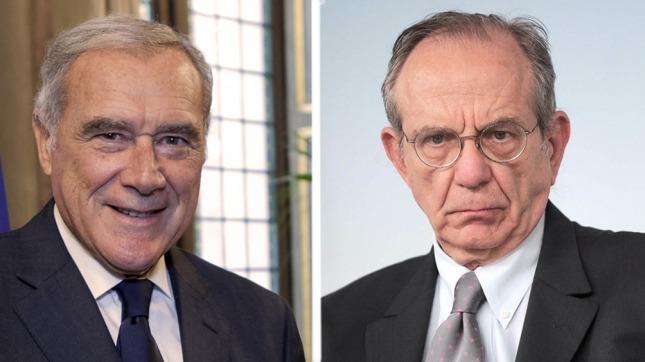 Pietro Grasso y Pier Carlo Padoan