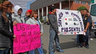 Archivo: protestas en Río Gallegos