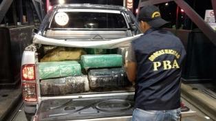 Once detenidos y una tonelada y media de marihuana secuestrada