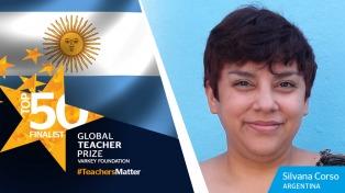 """La argentina elegida entre los 50 mejores docentes del mundo celebró la posibilidad de visibilizar su """"escuela inclusiva"""""""