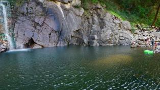 El salto Los Pizarros, la cascada más alta de la provincia