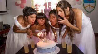 Un colegio de educación especial festejó los 15 años de cuatro alumnas