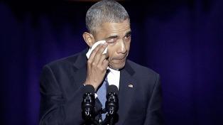 Los famosos despidieron a Obama, en las redes sociales