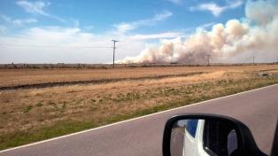 Controlan un incendio de campos en Villarino