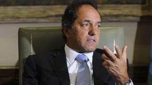 El fiscal Garganta presentó otro planteo para que se le prohíba salir del país a Scioli