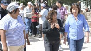 La ministra Bullrich recorrió junto a Morales las zonas afectadas por el alud