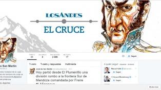 La hazaña de San Martín, en el cruce de Los Andes, se puede seguir por twitter