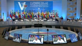 Solá llegó a México para participar de la cumbre de la CELAC
