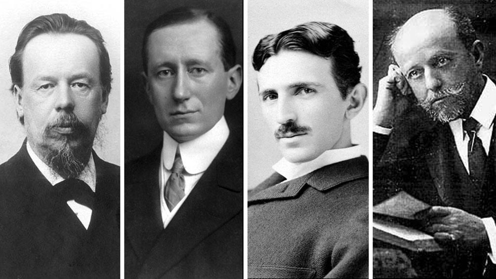 Popov, Marconi, Tesla y Cervera Baviera.