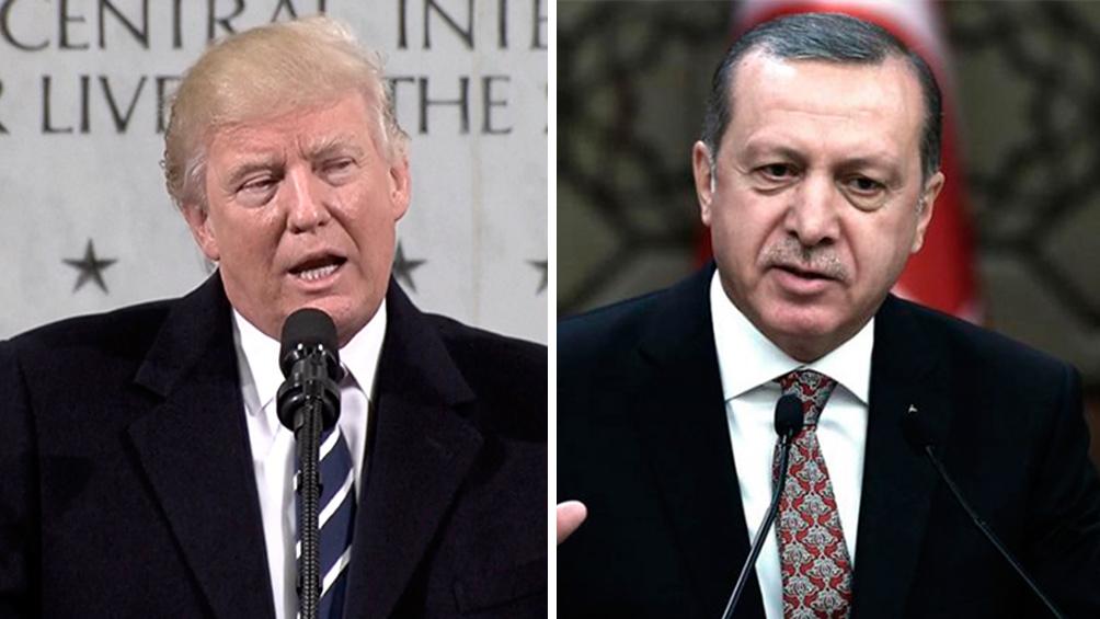 Trump dice que Turquía hará un alto el fuego