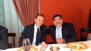 Maradona y Butragueño, un duelo amistoso en Madrid