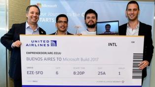 """Los tres jóvenes ganadores de """"El Emprendedor del Año"""" viajarán a EEUU a conocer inversores y capacitarse"""