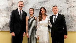 Macri ofreció una acogedora recepción a los reyes e invitados en El Pardo