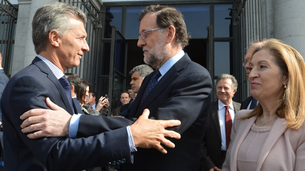 Mariano Rajoy llegó a Argentina para comenzar visita oficial