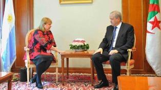 La canciller Malcorra se reunió con el primer ministro argelino