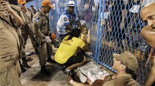 Veinte heridos en el inicio del Carnaval de Río de Janeiro, pero siguen los festejos