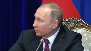 Putin dice que su país no apoyará nuevas sanciones a Siria