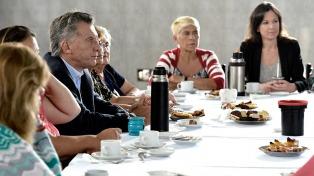 El presidente Macri compartió un encuentro con mujeres voluntarias