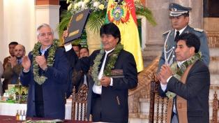 Evo Morales apoyó la ley de coca en un acto en Cochabamba