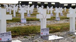 Son 95 los caídos en Malvinas que desde el 19 de junio serán identificados por la Cruz Roja