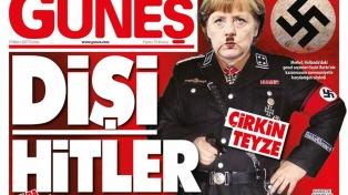 """""""Frau Hitler"""", el titular de un diario que eleva la tensión con Europa"""