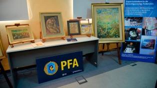 Restituyeron esculturas y pinturas robadas del artista Antonio Sassone