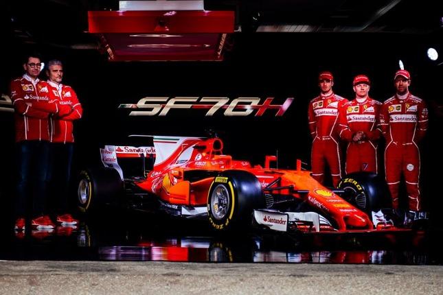Ferrari en su presentación oficial para el 2017 (Foto: Facebook Scudería Ferrari )