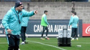 Gudiño hizo su primera práctica como nuevo refuerzo de San Lorenzo