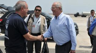 El presidente peruano agradeció la ayuda argentina tras el alud que causó 75 muertos