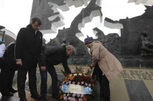 Frigerio encabeza en Ushuaia los actos oficiales por Malvinas