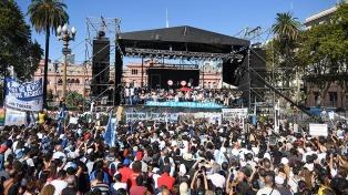 """Carlotto: """"En la plaza se pronunció un país, no un partido político"""""""