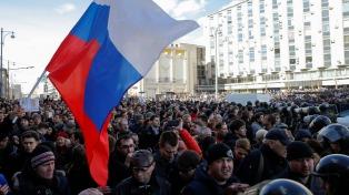 Más de 260 personas fueron detenidas en Moscú en una manifestación opositora