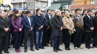 Frigerio encabeza en Ushuaia el acto oficial por el aniversario del conflicto armado