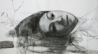 """""""La forma del vacío"""", una muestra de dibujos sobre tela y papel en la Biblioteca del Congreso"""