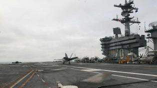 Tres portaaviones harán maniobras en Asia