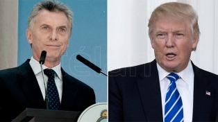 """""""Macri y Trump hablarán de un mayor intercambio comercial, de Venezuela y de la lucha contra el narcotráfico"""""""