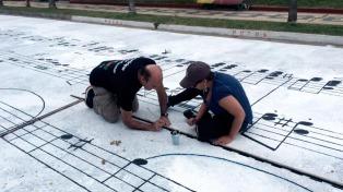 Pintaron una partitura de �La Cumparsita� en una calle uruguaya