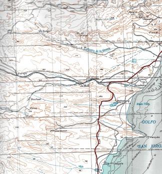 Mapa de Comodoro Rivadavia, 1933 (Fuente Ejército Argentino)