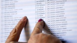 Los electores tienen tiempo hasta el martes para registrar cambios en el padrón provisorio