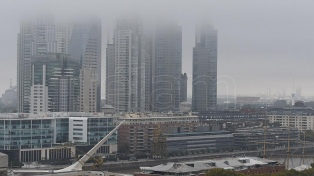 Neblinas y una temperatura máxima de 15° en la ciudad de Buenos Aires