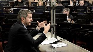"""Ante el Senado, Peña declaró que este año comenzará a advertirse """"la salida del estancamiento"""""""
