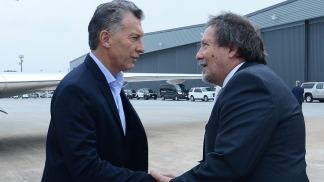 Macri a su arribó fue recibido por el cónsul argentino en Houston, Gabriel Volpi.