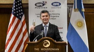 """Macri en Houston: """"Argentina está entre los países con mayor potencialidad del planeta"""""""
