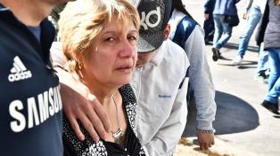 Críticas a la Justicia en la despedida de los restos de Araceli Fulles